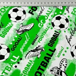 Piłka nożna football na zielonym tle