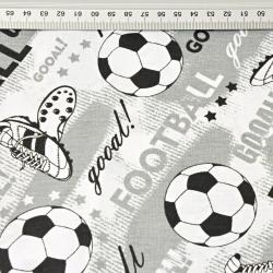 Piłka nożna football na szarym tle