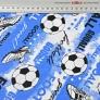 Piłka nożna football na niebieskim tle