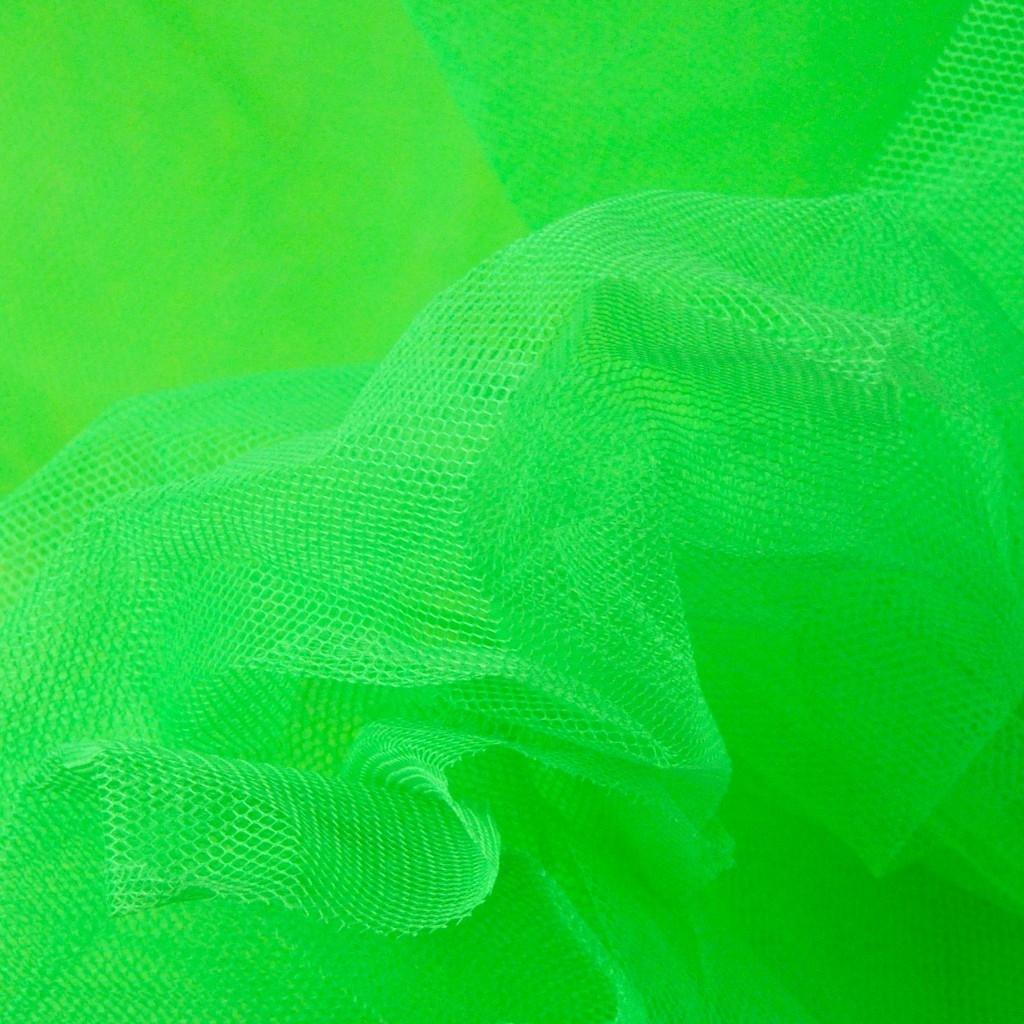 Tiul Dekoracyjny neonowy zielony