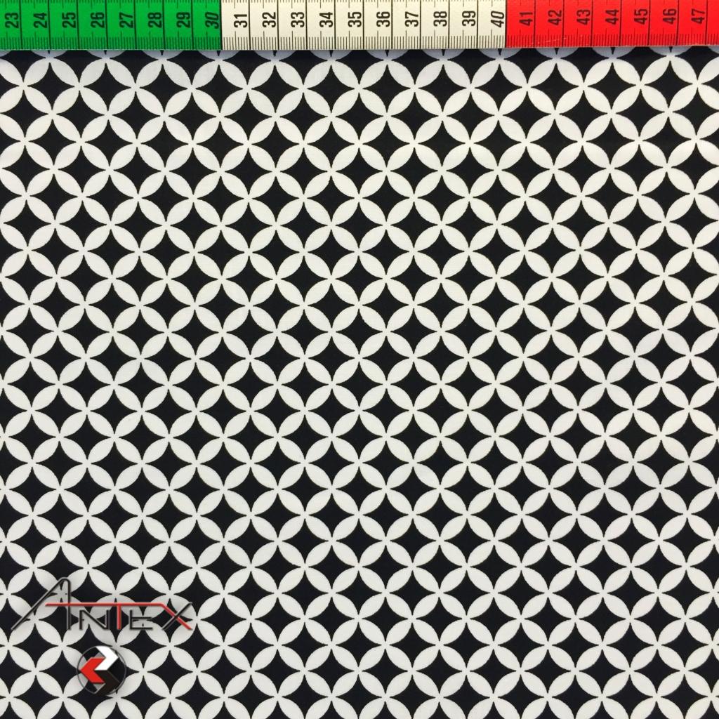 Tkanina koniczyna marokańska czarna