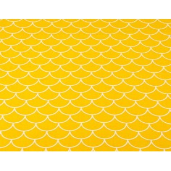 łuski białe na ciemno żółtym tle