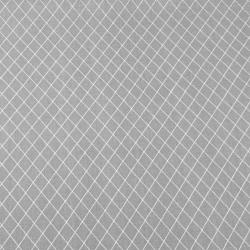 Bawełna romby białe na szarym tle