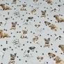 pieski beżowo-białe na jasno szarym tle