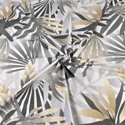 Liście palmowe beżowo szare na białym tle