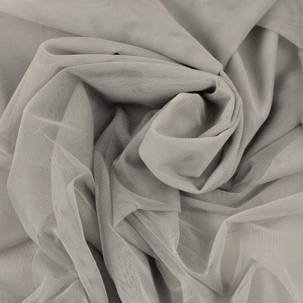 Tiul ubraniowy miękki - szaro beżowy