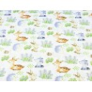 Zwierzątka leśne na łące na białym tle