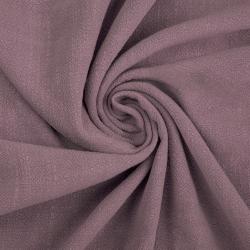 Len z wiskozą ubraniowy - ciemny brudny róż (Elderberry)