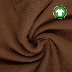 Tkanina Muślin double gauze brązowy (cocoa brown)