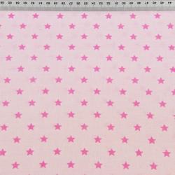 Gwiazdki 8mm różowe na jasno różowym tle
