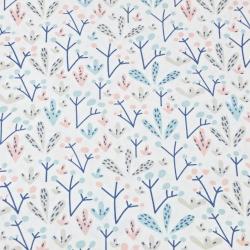 Krzaczki pastelowe na białym tle