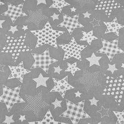 Gwiazdki wzorzyste na szarym tle