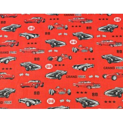 samochody grand prix na czerwonym tle