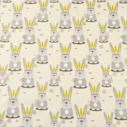 Bawełna króliki Apacze na waniliowym tle