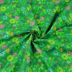 łączka kaszubska na zielonym tle