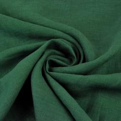 Len odzieżowy ciemny zielony - 125g