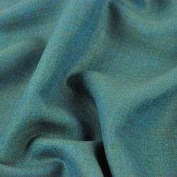 Len 100% odzieżowo - pościelowy turkusowo zielony melanż - 185g - 00C92 k(0-455)