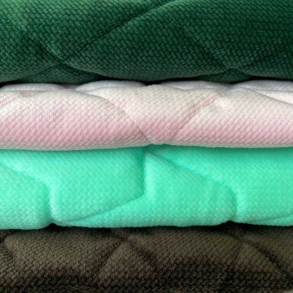 Velvet pikowany MIX Ścinki , końcówki - 1kg