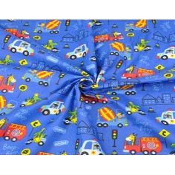 zwierzęta w pojazdach kolorowych na szafirowym tle