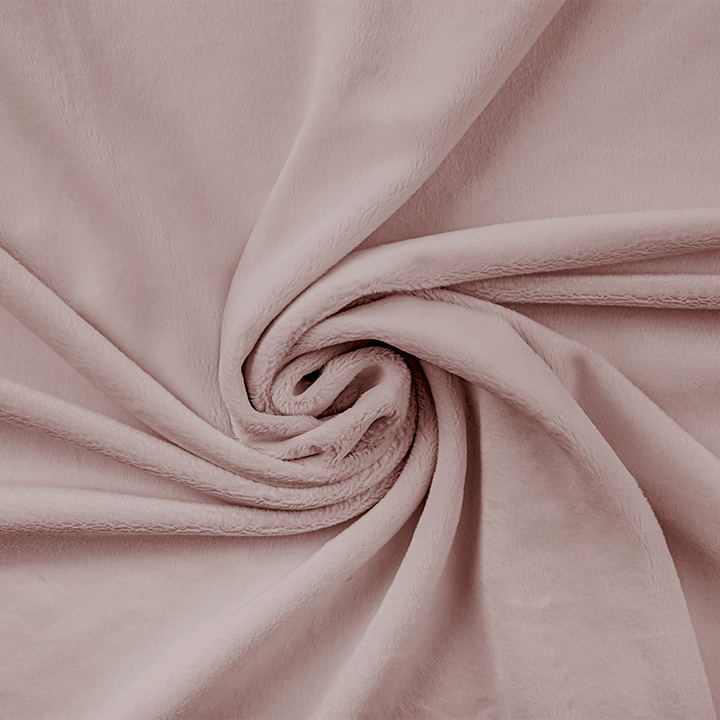 Materiał Minky gładki Premium pastelowy różowy (Sephia Rose)