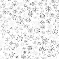 wzór świąteczny śnieżynki grafitowe na białym tle