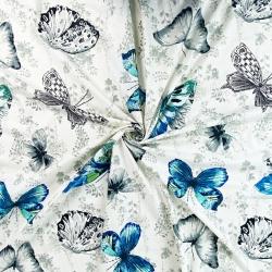 motylki szafirowo szare na złamanej bieli
