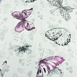 motylki fuksjowo szare na złamanej bieli