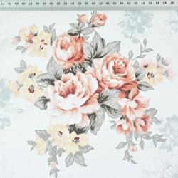kwiaty bukiety szaro morelowe na białym tle
