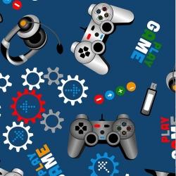 gry komputerowe na niebieskim tle
