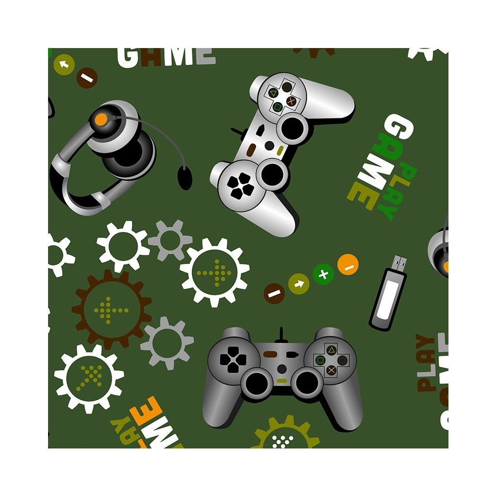 gry komputerowe na zielonym tle