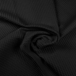 Tkanina Wafel bawełniany czarny