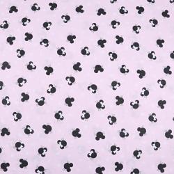 MIKI małe czarne na różowym tle