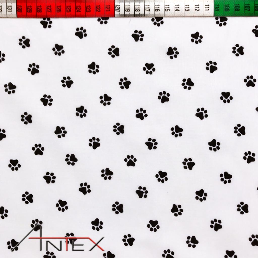 Tkanina w tropy czarne na białym tle