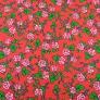 Bawełna wzór krakowski róże na czerwonym