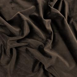 Aksamit zasłonowy - głęboki brąz