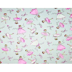Tkanina w Baletnice różowo białe na szarym tle