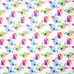 Tkanina w tukany kolorowe na białym tle