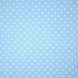 Tkanina w grochy białe na niebieskim tle