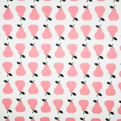 Tkanina w gruszki różowe na białym tle