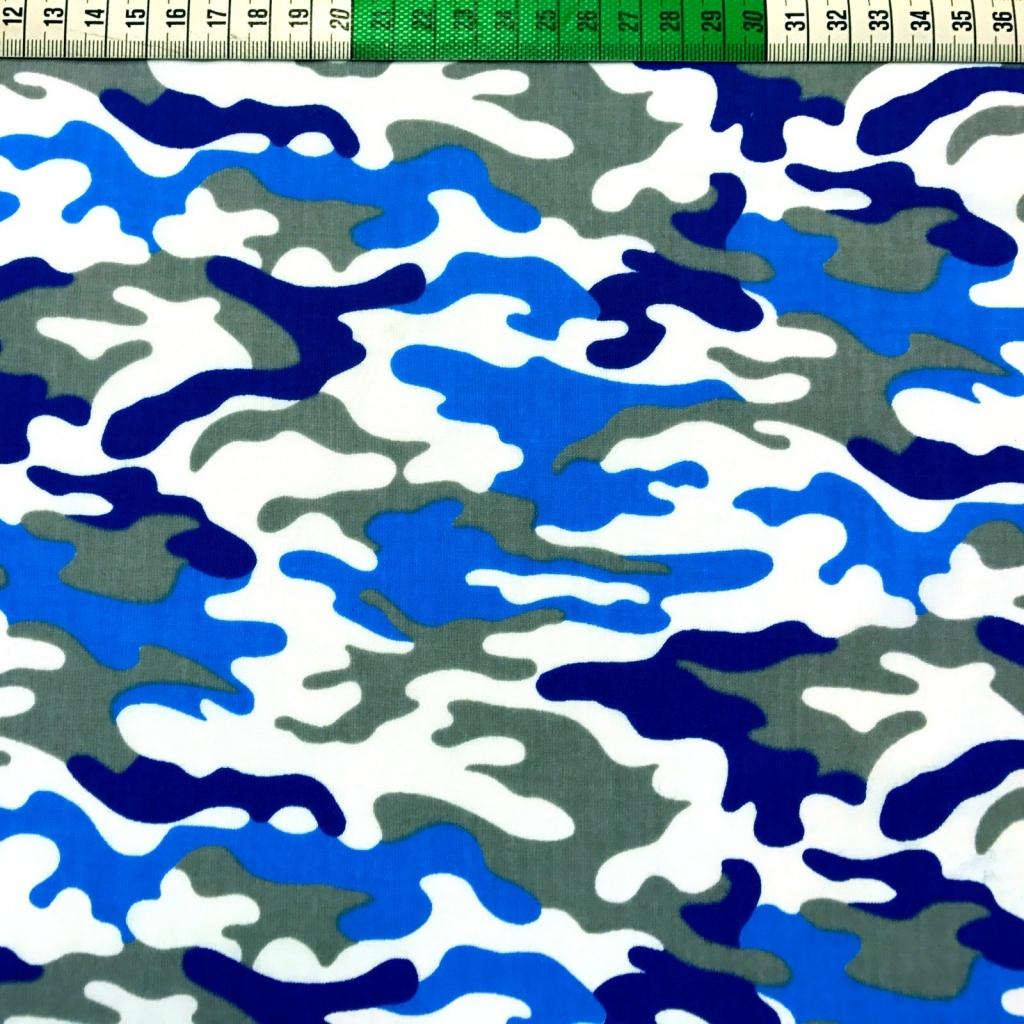 Tkanina wzór MORO niebieskie