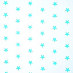 Bawełna gwiazdki 20mm miętowe na białym tle