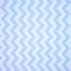 Tkanina zygzak niebieski