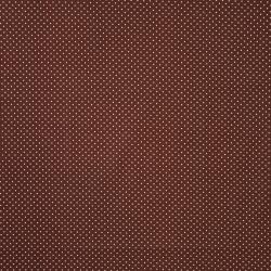 Tkanina w kropki białe na brązowym tle