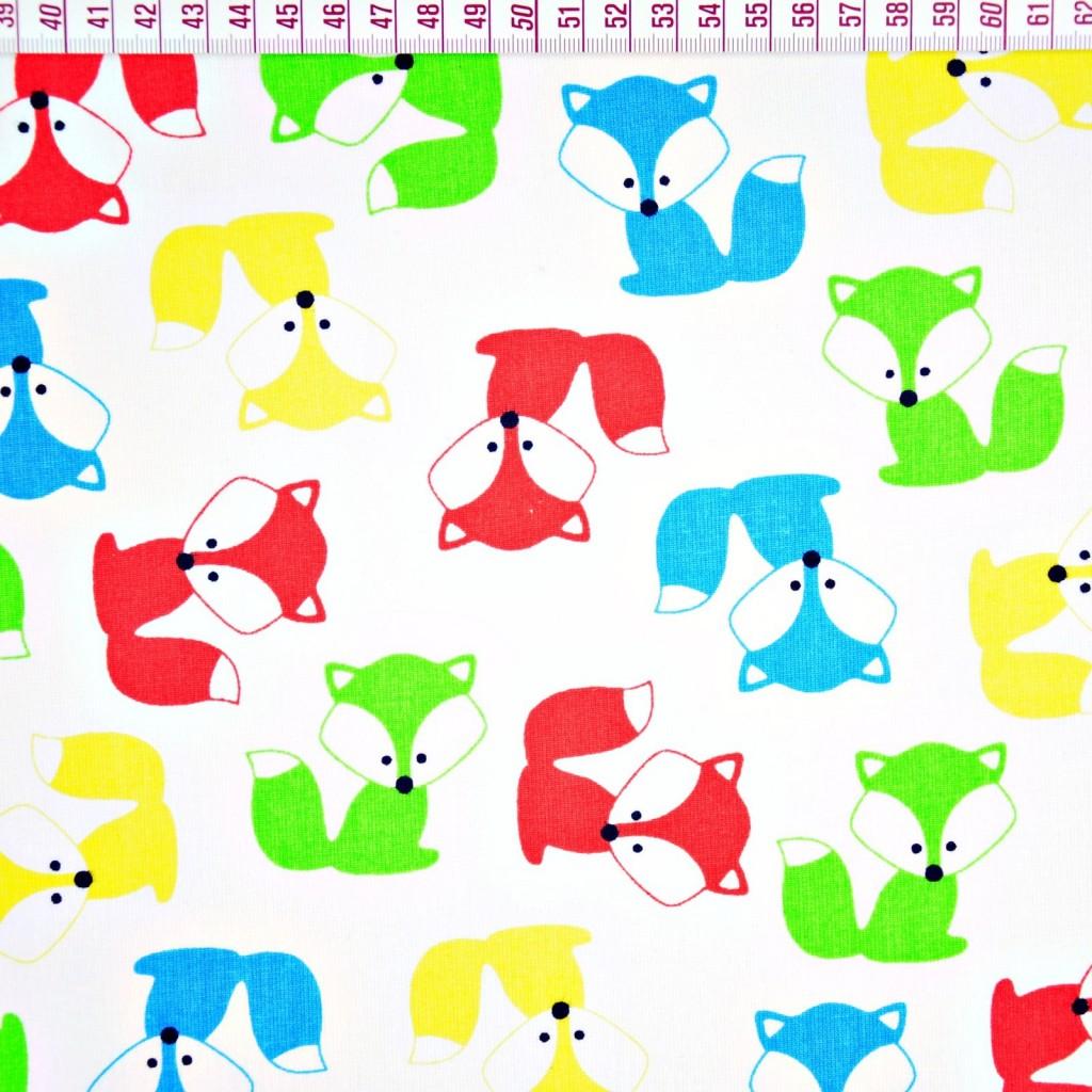 Tkanina w Liski kolorowe na białym tle