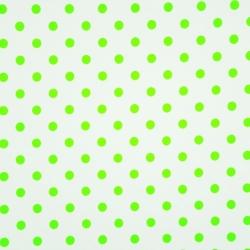 Tkanina w grochy jasno zielone na białym tle