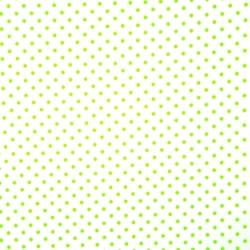 Tkanina w Kropki zielone na białym tle