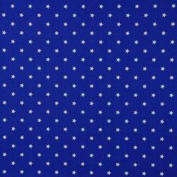 Tkanina w gwiazdki 8mm białe na szafirowym tle