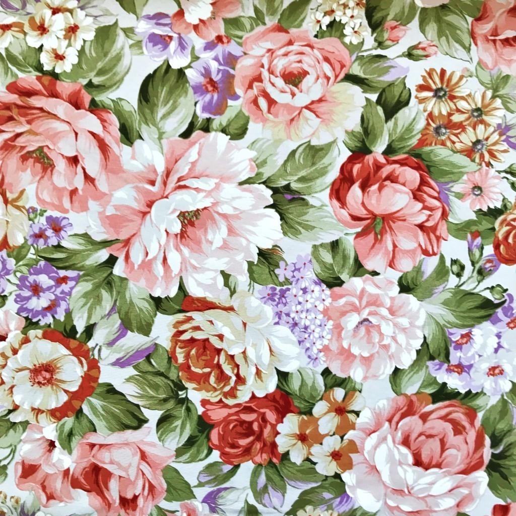 Tkanina Zasłonowa kwiaty 28 CANVAS