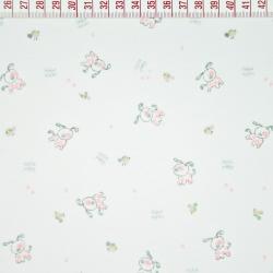 Dzianina pieski różowe na białym tle