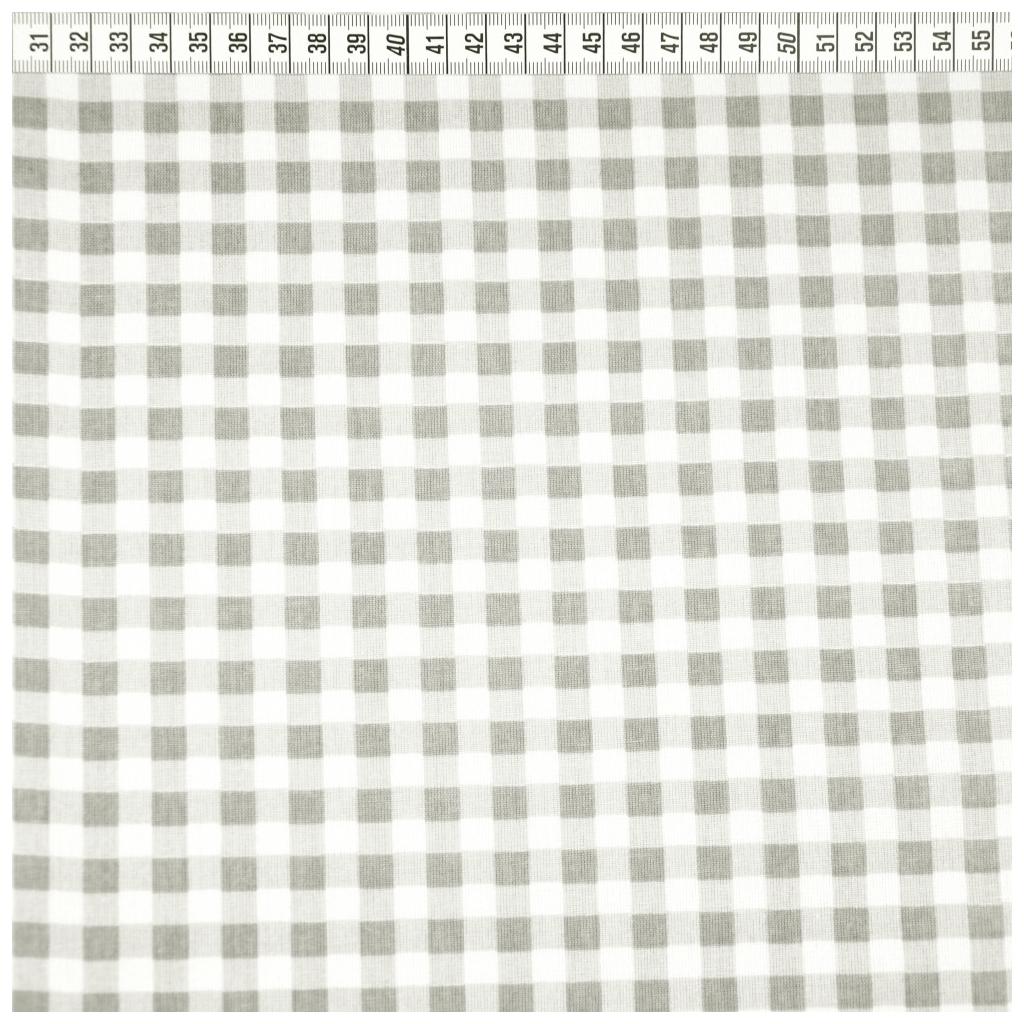 Tkanina w kratek szaro białą